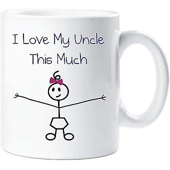 60 Second Makeover I Love My Uncle This Much Girls Mug Fathers Day Niece Gift Daddy Birthday