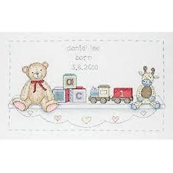 Anchor Counted Cross Stitched Kit ACS06 The Toy Shelf Birth New 20x33cm