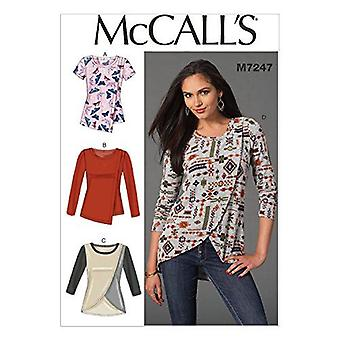 McCalls Schnittmuster 7247 Misses Close Fitting Pullover Tops Größe 14-22 E5