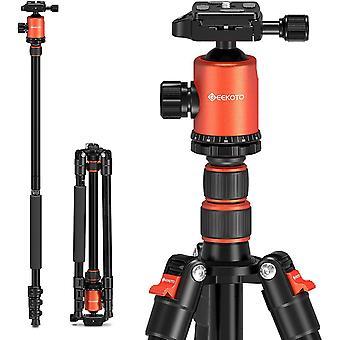 HanFei Kohlefaser Stativ Carbon Kamerastativ 200cm, 8X Carbon Fiber Reisestativ Einbeinstativ und 360