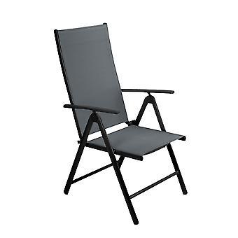 Reclining Metal Frame Folding Garden Chair Outdoor Patio Dining Armchair