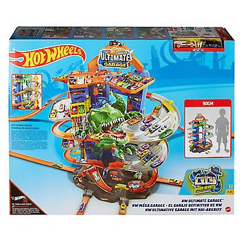 Hot Wheels City Robo T-Rex Ultimate Garage with 2 Cars
