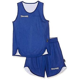 Spalding Doubleface Kids Set Basketball Reversible Shirt & Shorts - Royal/White