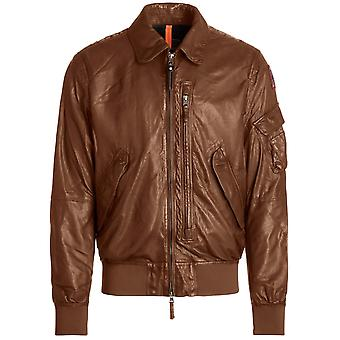 Parajumpers Brigadier Leather Brown Leather Jacket