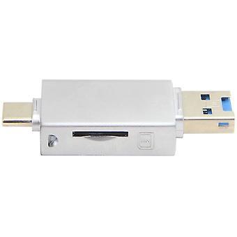 FengChun Xiwai USB-C Typ C/USB 2.0 auf NM Nano Speicherkarte TF Micro SD Kartenleser fr Huawei