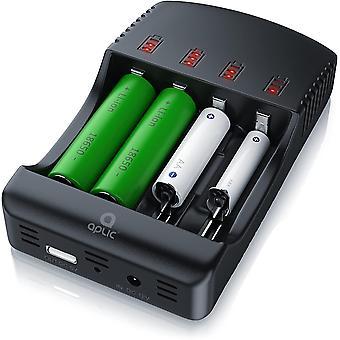 FengChun CSL - Universal Batterie Ladegert - Akku Ladestation Intelligente BatterieLadegerät - 4