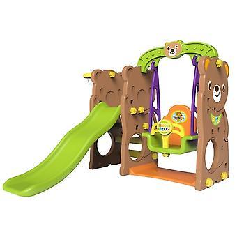 Trädgårdslekset Teddy Bear – Swing & Slide - Brun