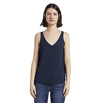 Tom Tailor Knopf T-Shirt, 10332/Off White, S Woman