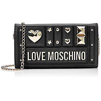 Love Moschino Wallets Pu, Woman, Black (Black), 9x3x15 cm (W x H x L)