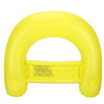 Mimigo Float Inflatable Lounges, Inflatable Pool Lounger Water Hammock, Swimming Pool Floating Lounger Chair Yellow