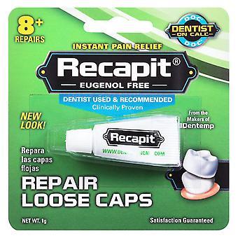 רופא שיניים בכוננות תיקון כובעים רופפים, eugenol חינם, 0.4 oz