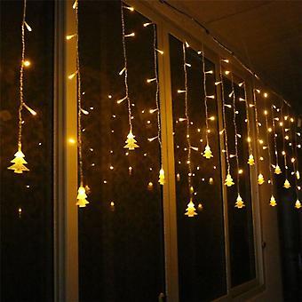 Led string valot, sisustus verho lumihiutale, ulkona juhlavalot.