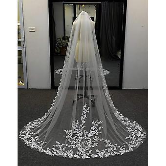 الحجاب الزفاف، 3D الزهور الحجاب الأزهار