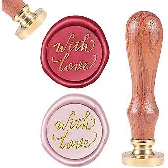 With Love, Sealing Wax Stamps Signature Desig Handwritten