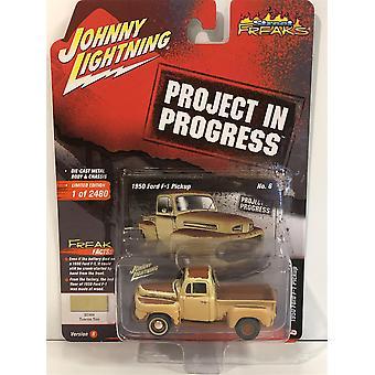 1950 Ford F-1 Pick Up Tuscon Tan 1:64 Scale Johnny Lightning JLSF015B