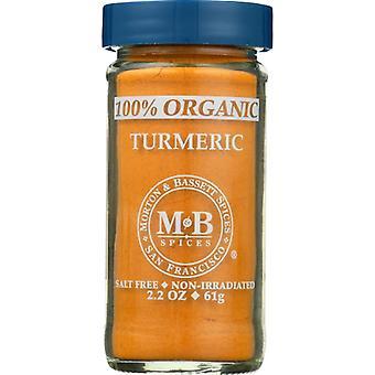 Morton & Bassett Spice Org 100% Turmeric, Case of 3 X 2.2 Oz