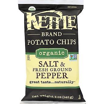 Kettle Foods Chip Pto Seaslt Blk Ppr Org, Case of 15 X 5 Oz