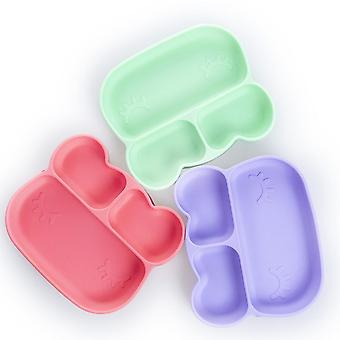 Rabbit purple children's silicone dinner plate, food divider bowl az14837
