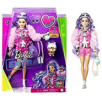 Barbie Extra Poupée avec cheveux pervenche avec animal de compagnie Pappy