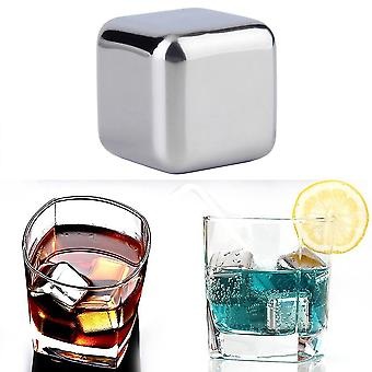 Wiederverwendbare 304 Edelstahl Whiskey Kühler Steine Eiswürfel Kühler trinken