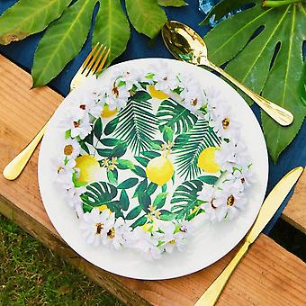 Tropical Party Napkins    Palm Tree Lemon Table BBQ Decorations x20