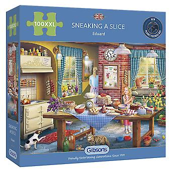 Gibsons Jigsaw Puzzle Sneaking a Slice 100XL pieces