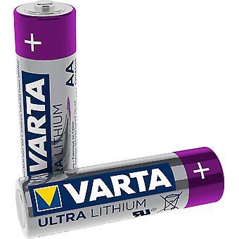 Lithium AA Mignon LR6 Batterien (2er Pack) - ideal für Digitalkamera Spielzeug GPS Geräte Sport- und