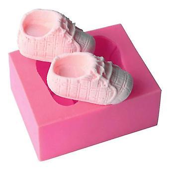Baby Shoes Silicone Fondant Cake Decor Sugarcraft Mould