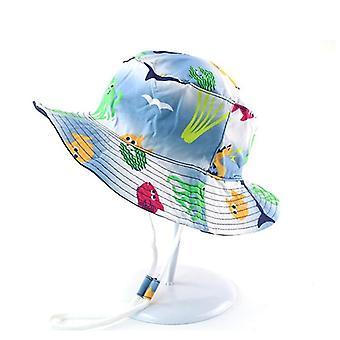 Kesä vauva ämpäri hattu uv suoja pojat korkki lapset panama ulkona ranta tytöt aurinko hattu sarjakuva lastenkalastaja lakki