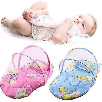 Pliable Nouveau bébé coton matelas matelas oreiller lit moustiquaire tente