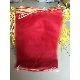 (100PC) לוט אלסטי ריק חדש בטטה ערמון אגוז חבילת ירקות שקיות אחסון רשת