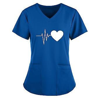 Sommer Damen Arbeitsuniform S-5xl Plus Size Female Casual Printing T-Shirt