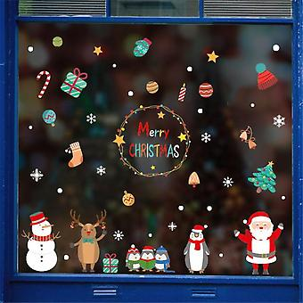 Christmas Wall Stickers Home Decoration Cute Stickers Christmas Window Stickers Multicolor