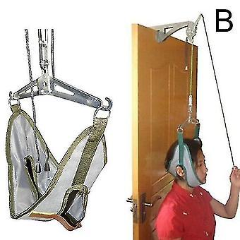 Correias de marcha penduradas kit de tração cervical ajustável dispositivo de tração quiropraxia do pescoço maca de correção do pescoço