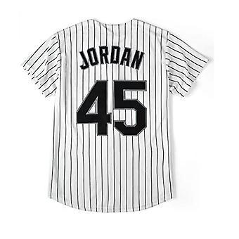 Férfi #45 Bárók Baseball Jersey 90-es hip-hop varrott sport rajongó ing ruházat fél fekete/fehér méret S-2xl