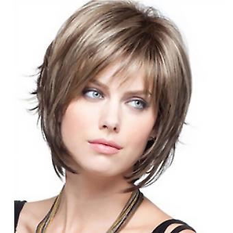 מותג קניון פאות, תחרה פאות, לבן פאה ריאליסטי קצר מתולתל שיער