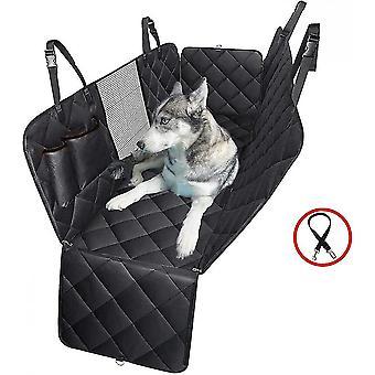 4-in-1 Hunde Auto Sitzbezug 100% wasserdicht kratzfeste Hundehängematte mit großem Mesh-Fenster Langlebige rutschfeste Hundesitzbezug Haustiere Hund Rücksitz Cove
