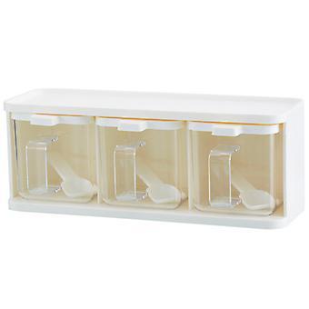 Transparent Seasoning Box Seasoning Storage Container For Spice Salt Sugar Cruet