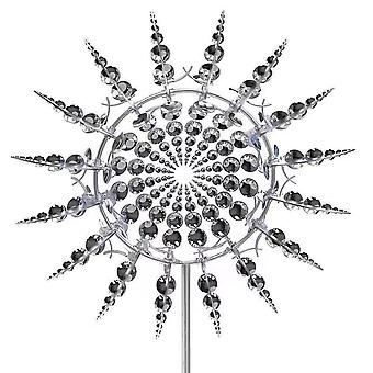 Unique Magical Metal Windmill Kinetic  Wind Spinners Outdoor Garden Decoration