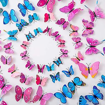 36pcs 3d Butterfly Wall Stickers Removable Mural Decal Art Decoration