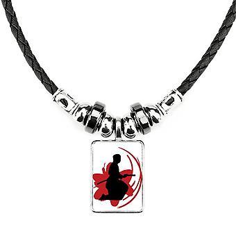 Bushido Samurai Sakura Obrys Japonského náhrdelníka