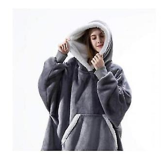Frauen's dicke Pyjamas tragbare Lamm samt fauldecke Home Casual Plüsch Pullover mit Kapuze