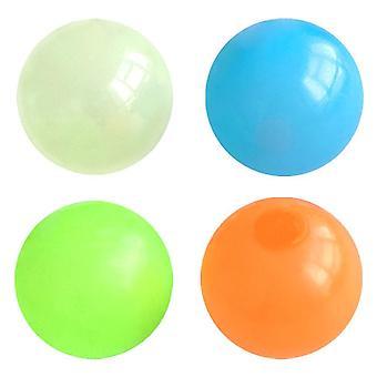 4st Tpr lysande Squishy Ball Leksaker Barn Sugboll Leksak