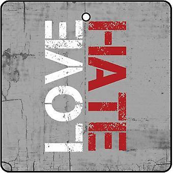 Love Hate Car Air Freshener