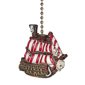 Pirate Ship Decorative Ceiling Fan or Light Dimensional Pull