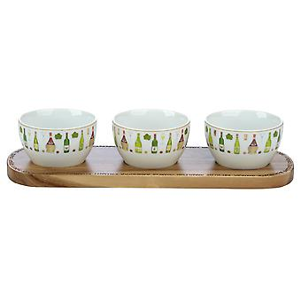 BIA wijnkelder Nibble Bowl & schotel Set
