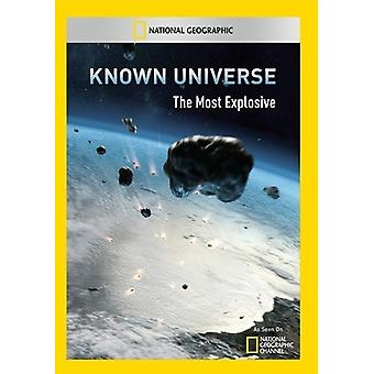 Known Universe: Most Explosive [DVD] USA import