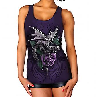 Wild Star-Dragon Beauty-Womens vest top-paars