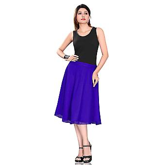 Geplooid A-Line Womens rok, blauw