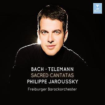 Bach / Telemann / Jaroussky / Barockorchester - Sacred Cantatas [CD] USA import